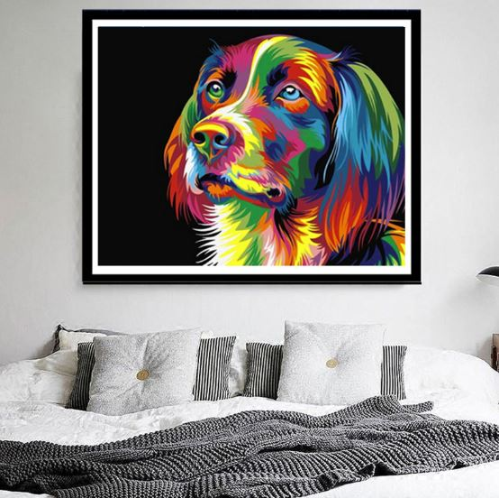 Colorful Doggie --- 5D Diamond Painting