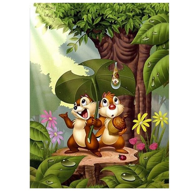 Little Squirrels ---5D Diamond Painting