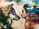 Wolve & Girl ---5D Diamond Painting