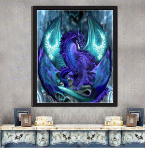 Blue Dragon --- 5D Diamond Painting