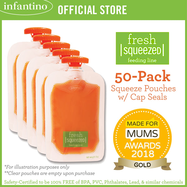 INFANTINO 50-Pack Squeeze Pouches™
