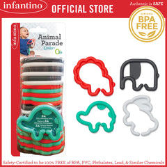 INFANTINO Animal Parade Links™ 24-Piece Set (BPA-Free)