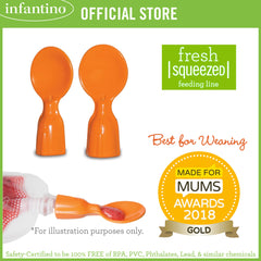 INFANTINO Couple A Spoons™ for Fresh Squeezed Feeding Line (BPA-Free)