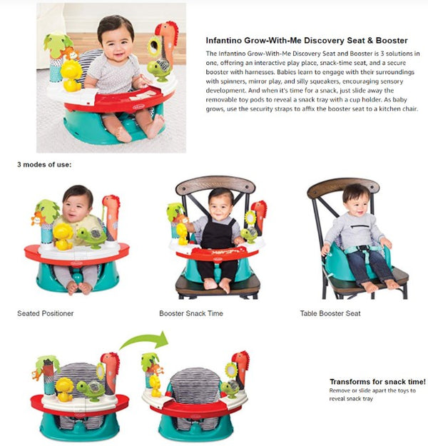 INFANTINO Grow-With-Me Discovery Seat & Booster™ - Child Booster Seat