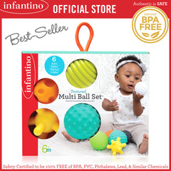 INFANTINO Textured Multi Ball™ 6-Piece Set (BPA-Free)
