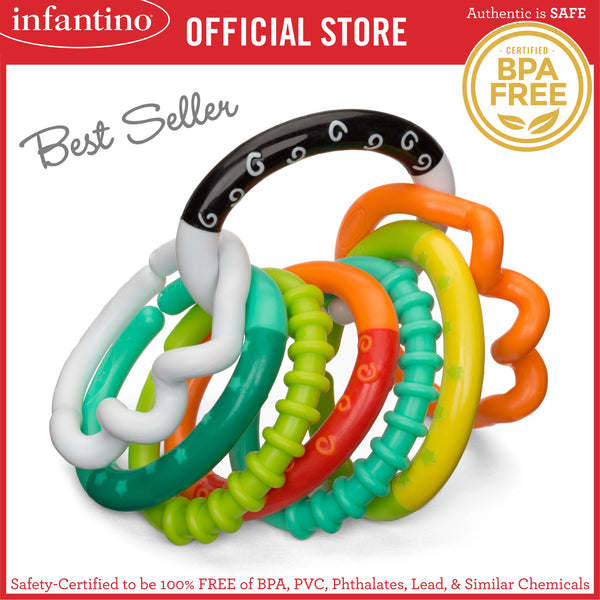 INFANTINO Textured Ring Links™ (BPA-Free)