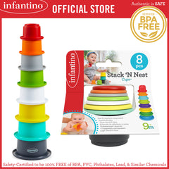 INFANTINO Stack'N Nest Cups™ - DEVELOPMENTAL TOY (BPA-Free)