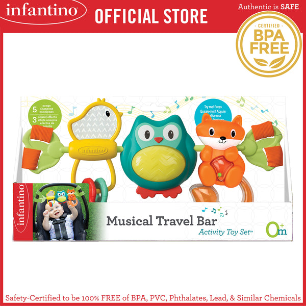 INFANTINO Musical Travel Bar Activity Toy™ (BPA-Free)