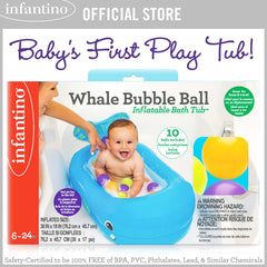 INFANTINO Whale Bubble Ball Inflatable Bath Tub™ (BPA-Free)