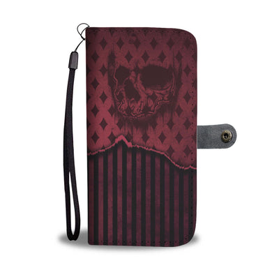 Skull n Stripes - Wallet Phone Case