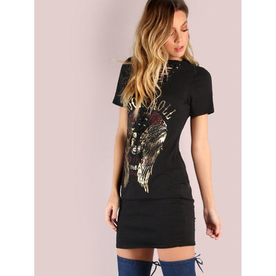 Wild Side Lace Up Dress