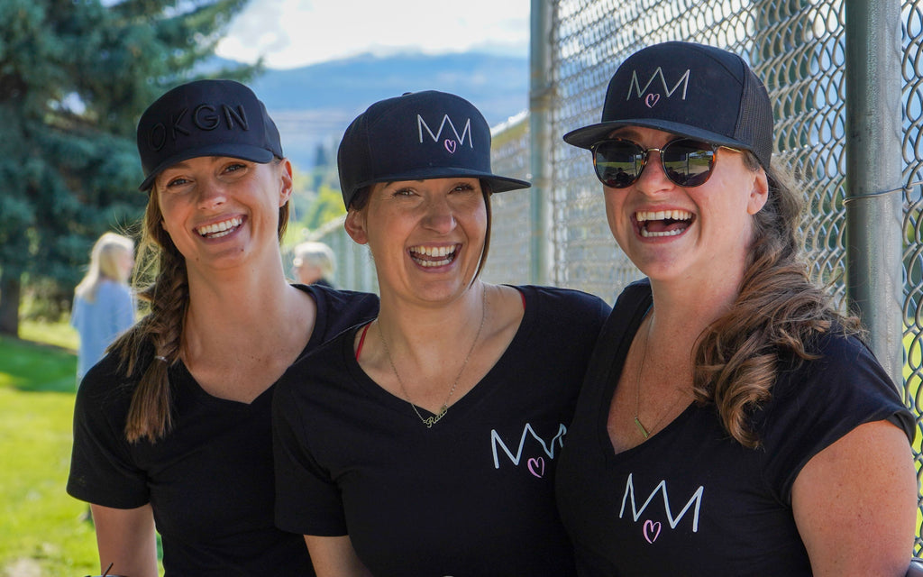 Mamas For Mamas Slo PItch team at Strike Out The Stigma a charity softball battle in kelowna hosted by you are collective