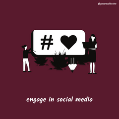 engage in social media to support local businesses and small businesses
