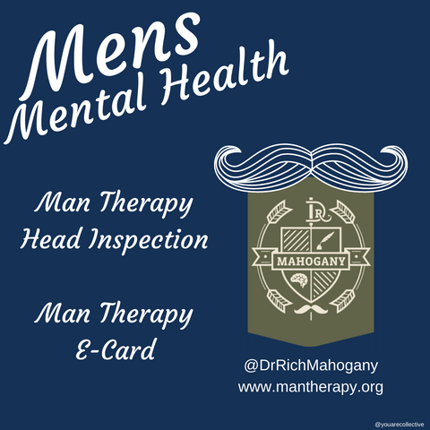 man therapy and mental health depression and head checks available for self evaluation for mens mental health