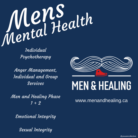men and healing ending the stigma against counselling and psychotherapy for men, resources for mens mental health and mens counselling