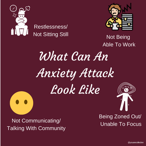 Anxiety Attacks vs. Panic Attacks and how they show up for different people. Check out the physical symptoms and what it can look like to have anxiety, anxious feelings, or an anxiety attack.