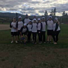 parkinson association of alberta slo pitch team at strike out the stigma in kelowna bc