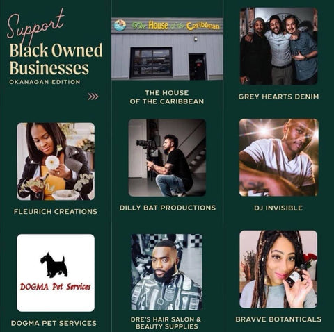 support black owned businesses in the okanagan with this list curated by table forty nine and samantha leigh and kelsie jane and ezra