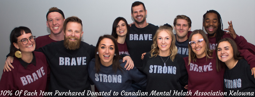 mental health advocates posing in brave and strong for you are collective's new collection