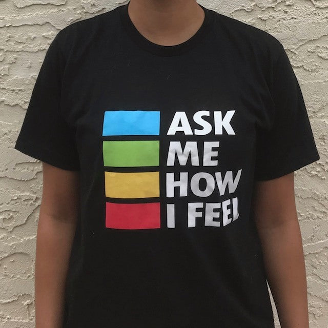 'ASK ME HOW I FEEL' Youth Black Unisex Tee