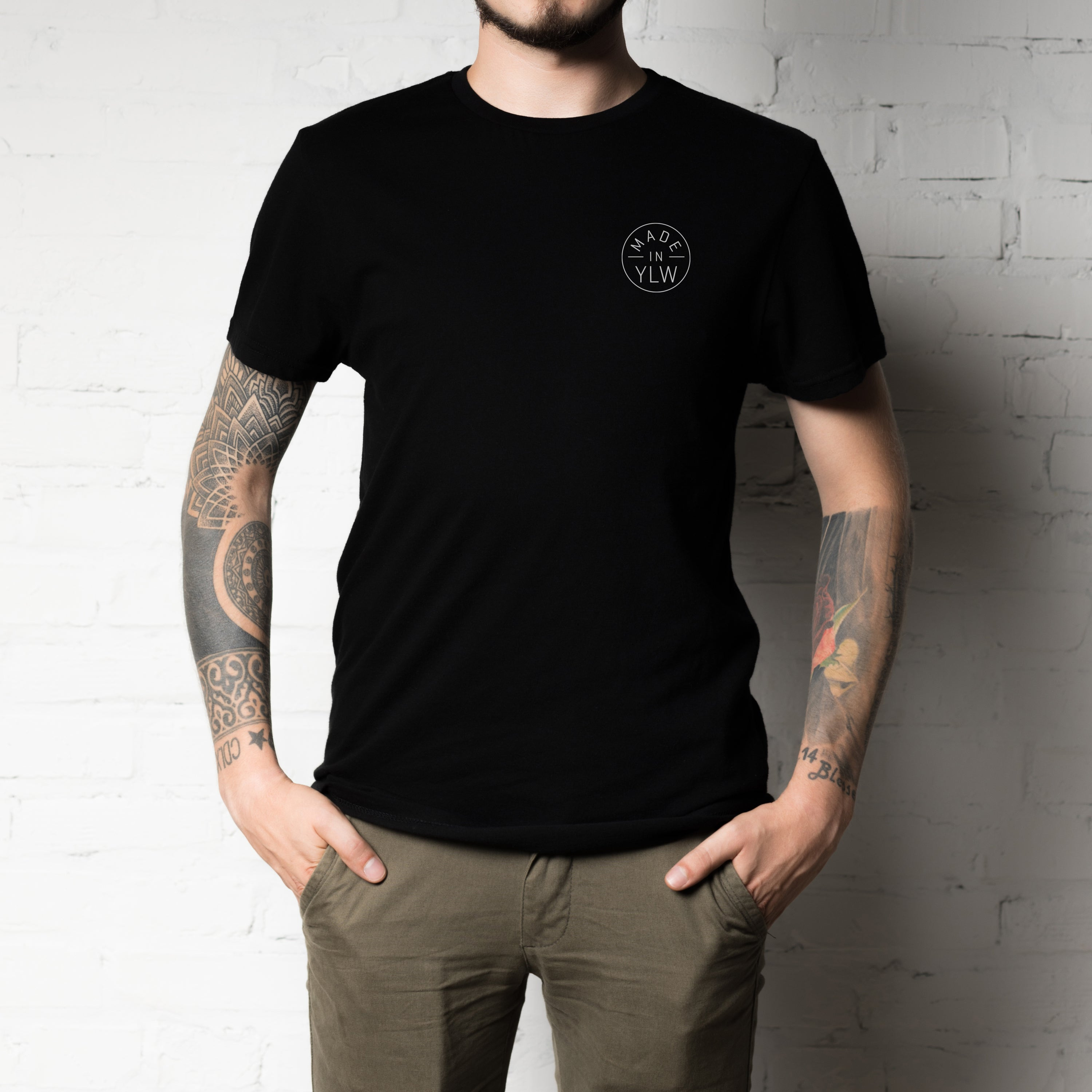 'MADE IN YLW' Black Unisex Tee