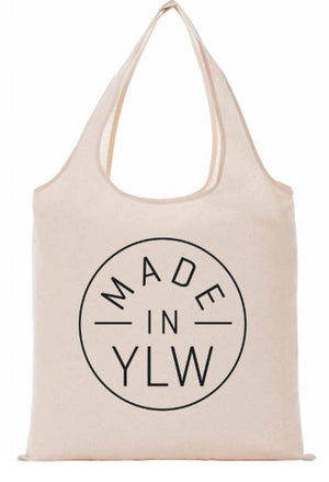 'MADE IN YLW' Canvas Market Bag