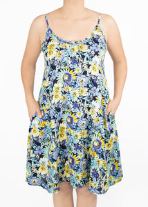 Paisley Raye Lily - 1X - Blue & Yellow Floral