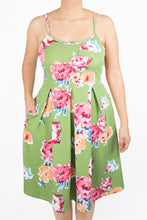Clover Dress - 3X - Light Green Floral