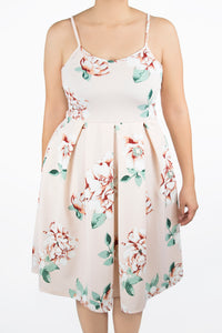 Clover Dress - 2X - Pale Pink Floral