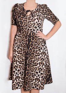 Sweet Pea Dress - 3X - Animal Print