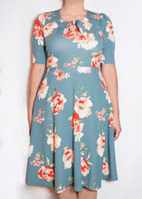 Sweet Pea Dress - 1X - Light Blue Floral