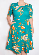 Sweet Pea Dress - 0X - Aqua Floral