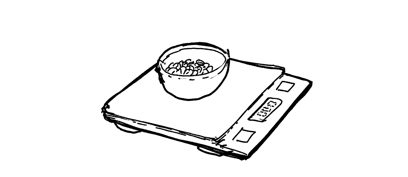 Illustration of a coffee scale.