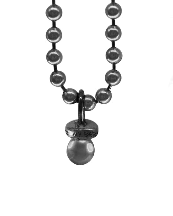 Sucker Necklace w/ Ball Chain - Oxidized