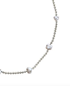 Mini Perlita Necklace - 7 Pearls