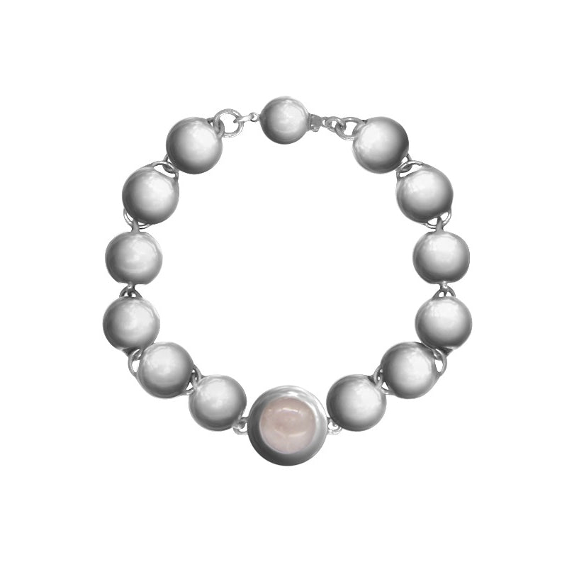 Atlas bracelet w/ Rose Quartz