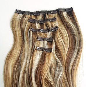 Caramel Blend Piano Colour Human Hair in 5 piece 21.5 Inches - Seamless1