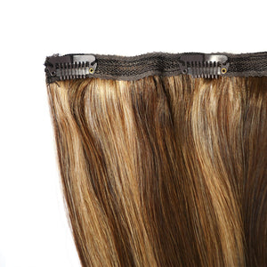 Salt n Pepper Balayage Colour Human Hair in 1 piece - Seamless1