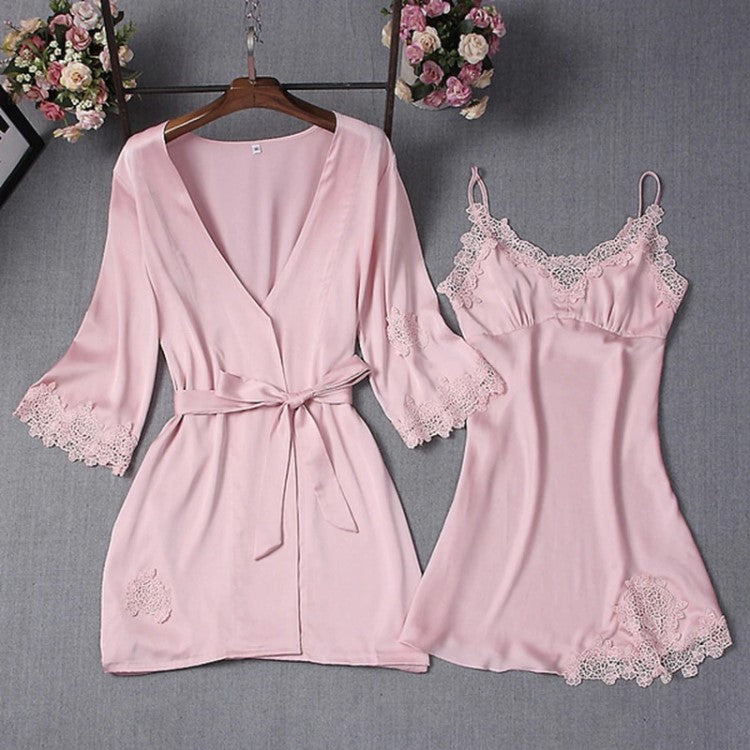 Bright Ellie Pink Nightgown and Robe Sets