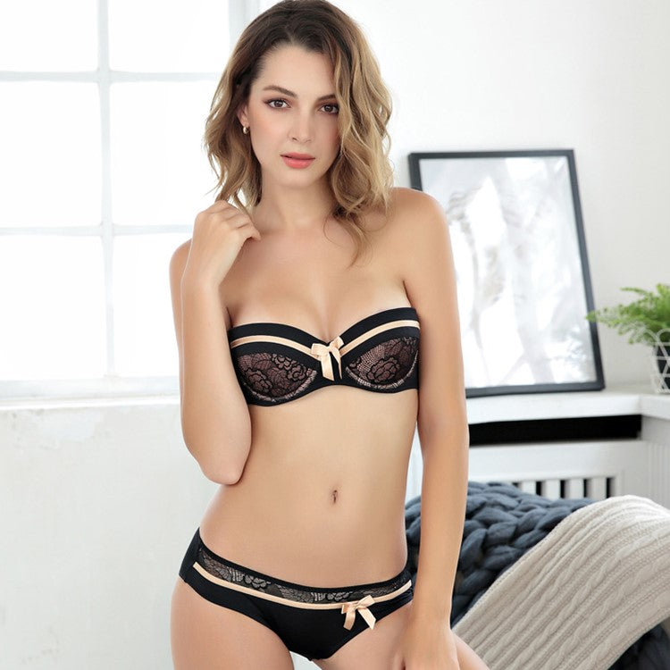 Bright Ellie Elegant Strapless Underwear Sets