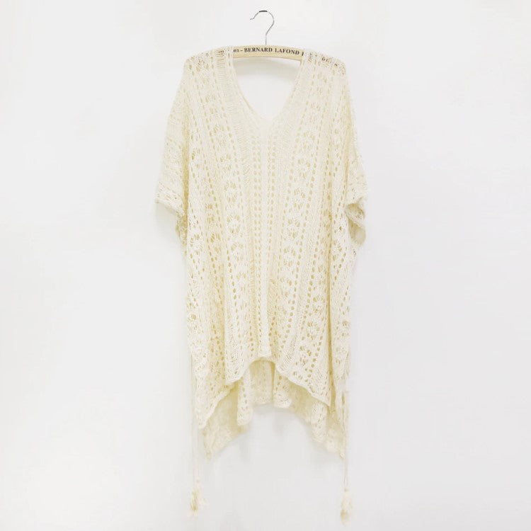 Bright Ellie Beige Beach Cover Up Dresses