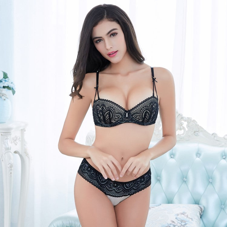 Bright Ellie Black Lace Lingerie Set Sale Online