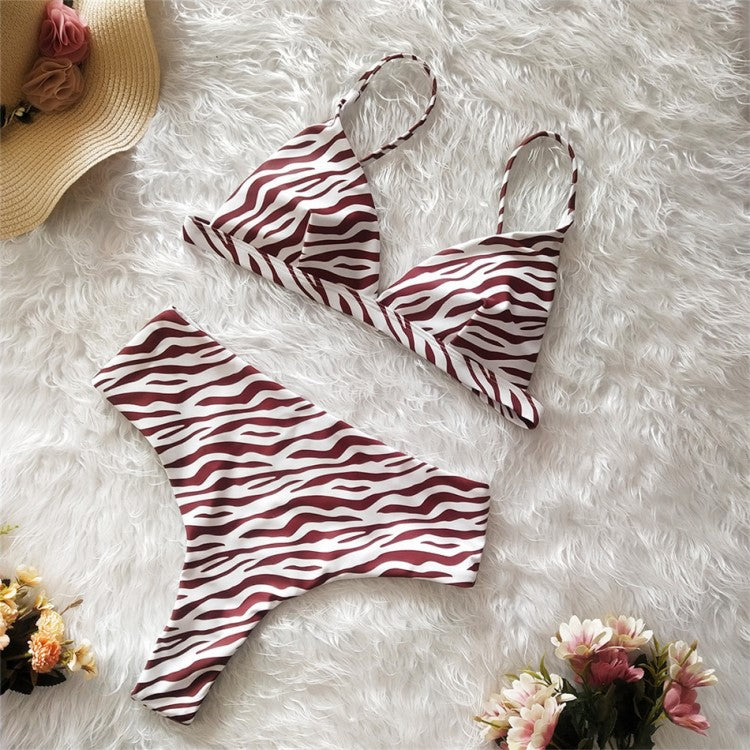 Bright Ellie Zebra Print Girls Swimsuits