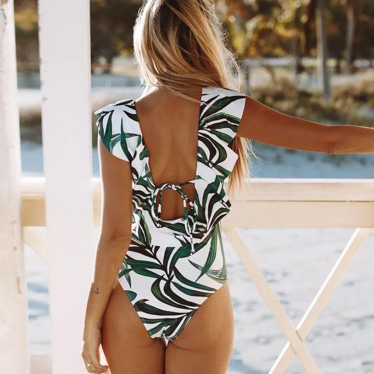Bright Ellie Cheap Bathing Suits with Low Cut Back