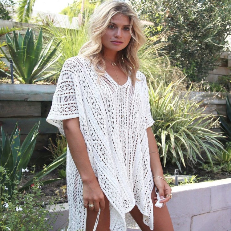 Bright Ellie White Beach Kaftan Cover Ups
