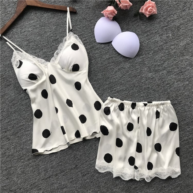 Ellie Polka Dot Satin Nightwear