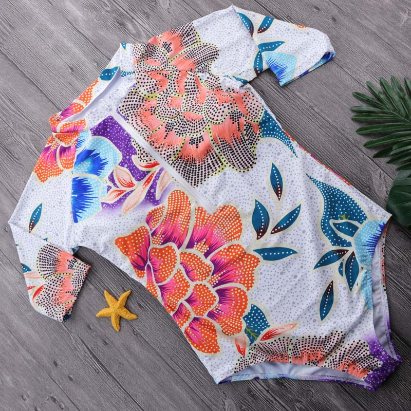 Leaf Long Sleeve One Piece Swimsuit