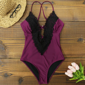 COCO One Piece Plunge Swimsuit