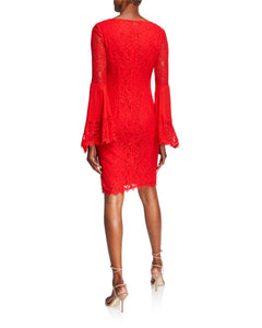 Red Boho Lace Dress - 2