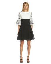 Load image into Gallery viewer, Colorblock Fit and Flare Lace Dress
